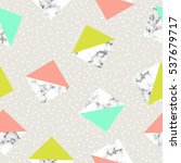 seamless geometric pattern with ... | Shutterstock .eps vector #537679717