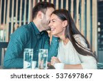 beautiful loving couple... | Shutterstock . vector #537697867