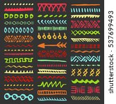 collection of hand drawn... | Shutterstock .eps vector #537699493