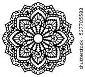 mandala for painting. vector... | Shutterstock .eps vector #537705583