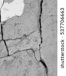 crack old concrete floor... | Shutterstock . vector #537706663