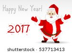 christmas background with santa ... | Shutterstock .eps vector #537713413