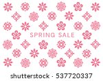 spring sale card with flower... | Shutterstock .eps vector #537720337