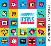 on line shopping. outline web... | Shutterstock .eps vector #537724837