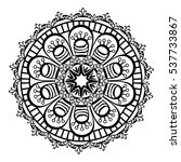 mandala oriental symbol icon... | Shutterstock .eps vector #537733867