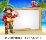 friendly pirate cartoon... | Shutterstock .eps vector #537737047