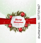 christmas greeting card   | Shutterstock .eps vector #537737467