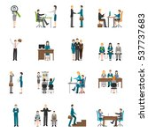 recruitment hr people... | Shutterstock . vector #537737683