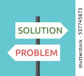 white solution and problem road ... | Shutterstock .eps vector #537745873