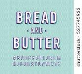 modern vector font  | Shutterstock .eps vector #537745933