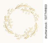 Golden wreath. Vector. Isolated.