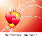 valentine's day hearts on... | Shutterstock .eps vector #53775007