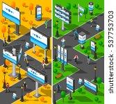 street advertising icons set.... | Shutterstock . vector #537753703