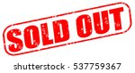sold out red stamp on white... | Shutterstock . vector #537759367