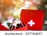 first aid kit. | Shutterstock . vector #537760837