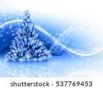 christmas blue tree | Shutterstock . vector #537769453