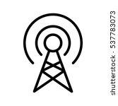 vector broadcast icon | Shutterstock .eps vector #537783073