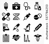 medical icons on white... | Shutterstock .eps vector #537786253