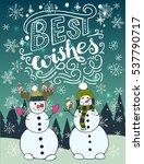 best wishes unique hand... | Shutterstock .eps vector #537790717