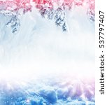 christmas background with snow... | Shutterstock . vector #537797407
