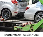 new cars on the transporter... | Shutterstock . vector #537814903