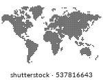point detailed world map made... | Shutterstock .eps vector #537816643
