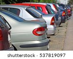 cars in the parking lot in the... | Shutterstock . vector #537819097
