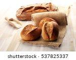 different kinds of bread rolls... | Shutterstock . vector #537825337