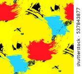 brushstrokes seamless bold... | Shutterstock .eps vector #537843877