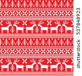 new year's christmas pattern... | Shutterstock .eps vector #537848923