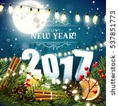 happy new year 2017  ... | Shutterstock .eps vector #537851773