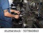milling machine operator...   Shutterstock . vector #537860863