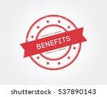 benefits. stamp sign | Shutterstock .eps vector #537890143