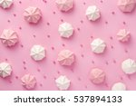 meringue pattern on pink... | Shutterstock . vector #537894133