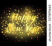 happy new year greeting card...   Shutterstock .eps vector #537895663