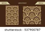 diy laser cutting set. woodcut... | Shutterstock .eps vector #537900787