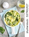 broccoli cauliflower gratin in... | Shutterstock . vector #537901927
