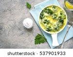 broccoli cauliflower gratin in... | Shutterstock . vector #537901933
