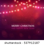 colourful glowing red christmas ... | Shutterstock .eps vector #537912187