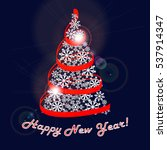happy new year greeting card.... | Shutterstock .eps vector #537914347