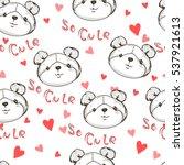 teddy bear vector seamless ...   Shutterstock .eps vector #537921613