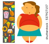 obesity infographic template  ... | Shutterstock .eps vector #537927157