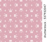 seamless pattern in retro style ... | Shutterstock .eps vector #537932047