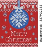 merry christmas and new year... | Shutterstock .eps vector #537932353