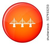 bridge icon in red circle... | Shutterstock .eps vector #537933253