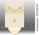wedding invitation card... | Shutterstock .eps vector #537936757