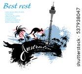 travel australia design in...   Shutterstock .eps vector #537938047