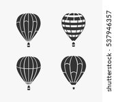 balloon flying vector set