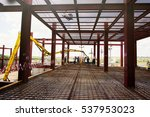 construction of steel... | Shutterstock . vector #537953023