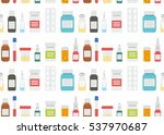 medical pills and drugs in... | Shutterstock .eps vector #537970687